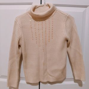 Cream Sweater with Sequin